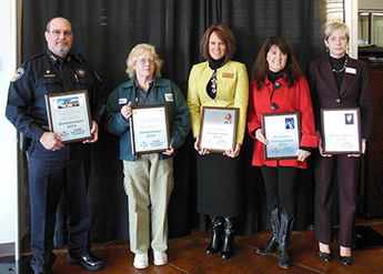winners of Downtowner awards, Kirk Taylor, Boughton, Baughman, Gladney, April Kasza